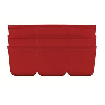 Inzetbakje voor assortimentsdoos ca. 8x12x4 cm rood 3 stuks