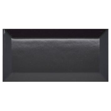 Wandtegel Metro zwart 7,5x15 cm 0,5 m²