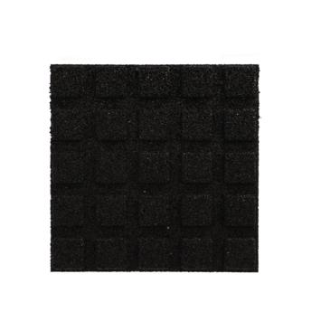 Rubber tegel Zwart 40x40x2,5 cm