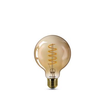 Philips LED globe E27 25W filament goud spiraal dimbaar