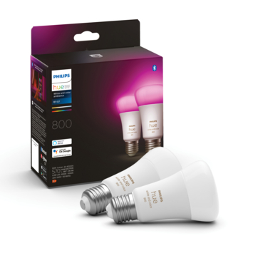 Philips Hue e27 9w white & color 2 pack