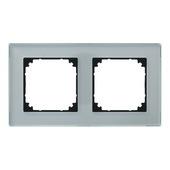 Schneider electric System-M afdekplaat 2-voudig M-plan diamant