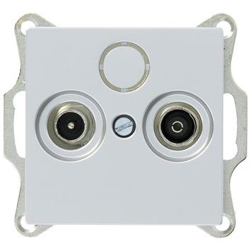 Schneider System coax contactdoos universeel aluminium