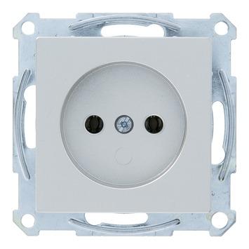 Schneider System enkel stopcontact aluminium