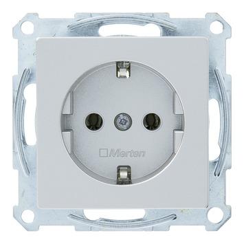Schneider System enkel geaard stopcontact aluminium