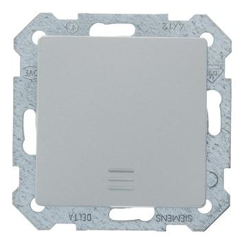 Siemens Delta wisselschakelaar aluminium met indicatielamp