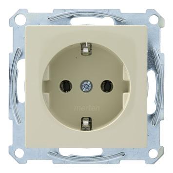 Schneider Electric System-M enkel geaard stopcontact crème