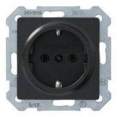 Siemens Delta enkel geaard stopcontact antraciet