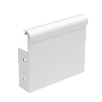 Intensions Practical extra eindkap gordijnkap wit 8 cm