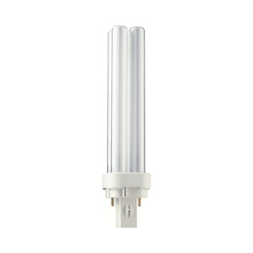 Philips spaarlamp PLC G24 18W warm wit