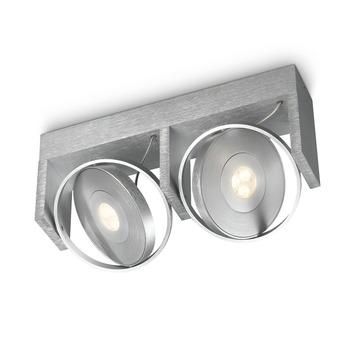 Philips Ledino plafondspot Particon aluminium 2-lichts