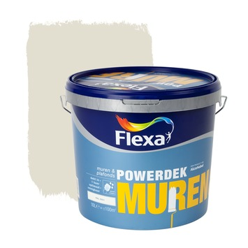 Flexa Powerdek latex RAL 9001 crème wit mat 10 liter