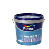 Flexa Powerdek latex Badkamer & Keuken wit mat 5 liter