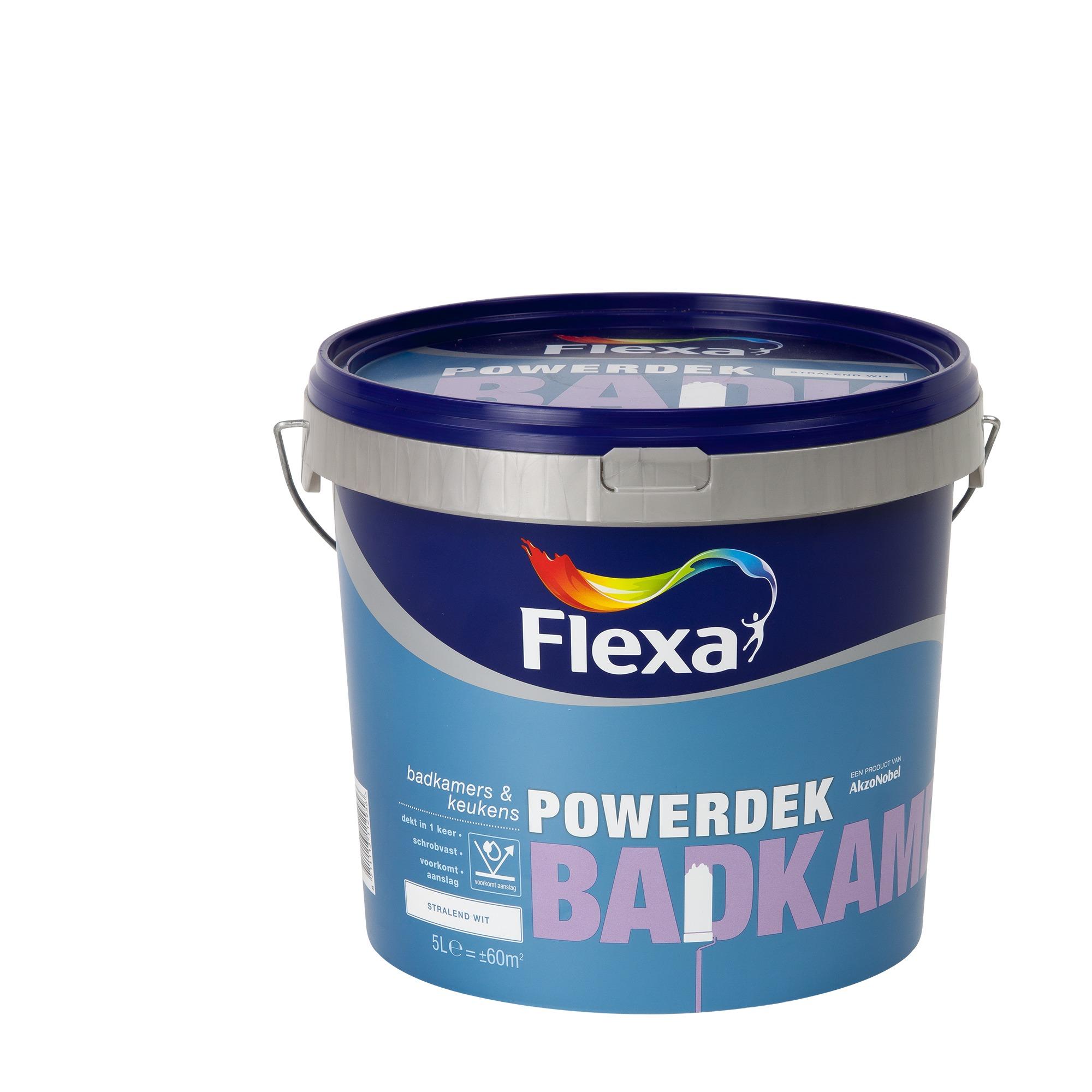 flexa powerdek latex badkamer & keuken wit mat 5 liter | muurverf, Badkamer