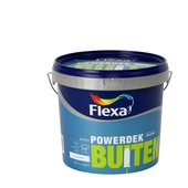 Flexa Powerdek latex buiten stralend wit mat 5 liter