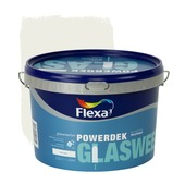 Flexa Powerdek latex glasweefsel RAL 9010 gebroken wit mat 2,5 liter