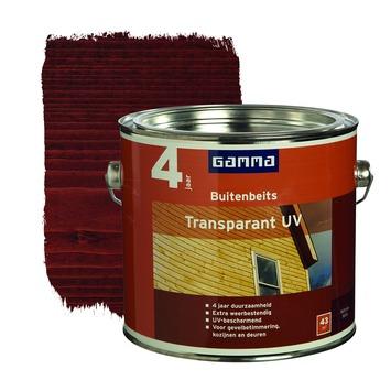 GAMMA buitenbeits transparant UV mahonie 2,5 liter