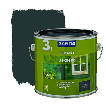 GAMMA tuinbeits dekkend antraciet 2,5 liter