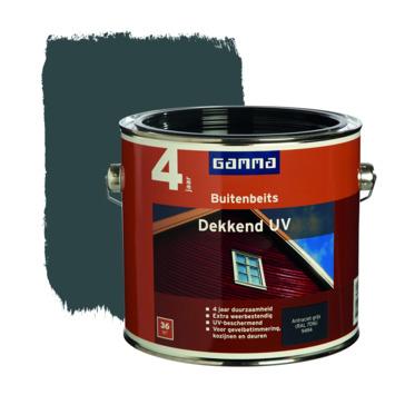 GAMMA buitenbeits dekkend UV antraciet 2,5 liter