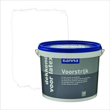 GAMMA voorstrijk dekkend voor latex wit 5 liter