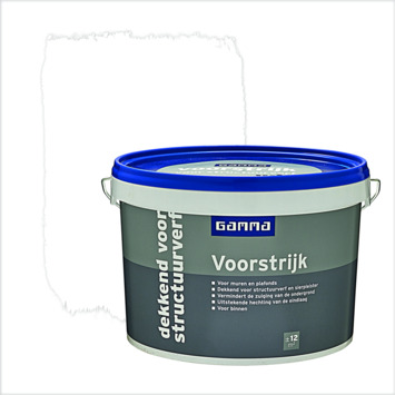 GAMMA voorstrijk dekkend voor structuurverf wit 2,5 liter