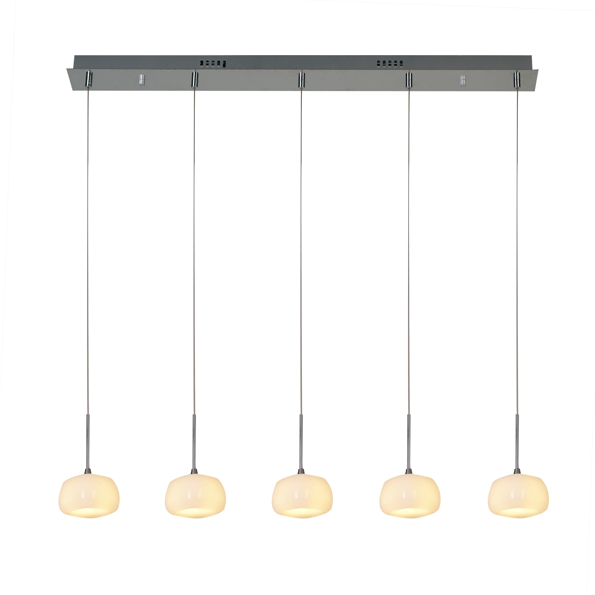 Hanglamp Miley chroom/wit