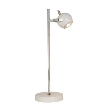 Tafellamp Lotte chroom/wit