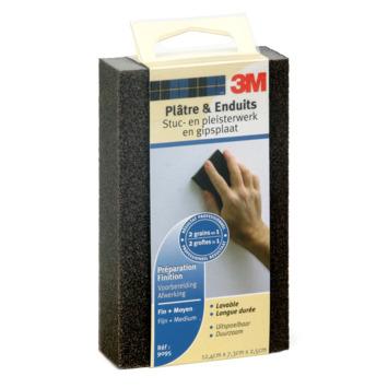 3M schuurblok medium fijn/middel voorbereiding en afwerking pleisterwerk