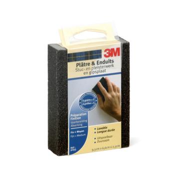 3M schuurblok klein fijn/middel voorbereiding en afwerking pleisterwerk