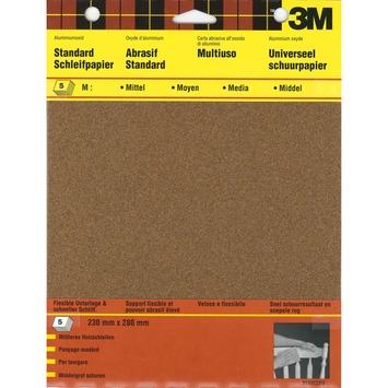 3M schuurpapier standaard middel K80 5 stuks