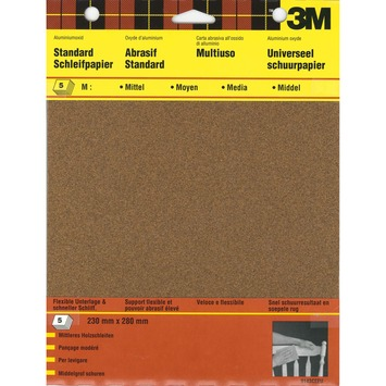 3M schuurpapier standaard middel universeel 5 stuks