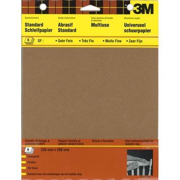 3M schuurpapier standaard zeer fijn K180 5 stuks