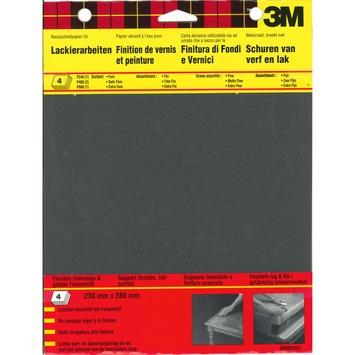 3M schuurpapier assortiment K240, P400, K600 zwart