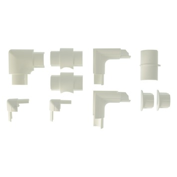 D-line Accessoireskit voor 30/ 15mm D-line Goot Wit