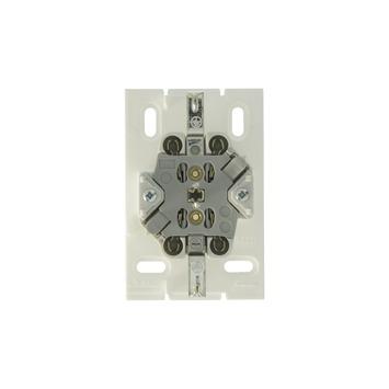 Attema dubbel stopcontact leidinggootsysteem K25 wit