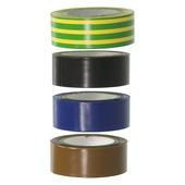 GAMMA isolatieband blauw/bruin/zwart/geel/groen 4 stuks