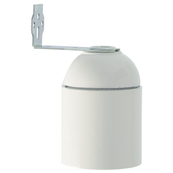 GAMMA lamphouder haaks E27 wit