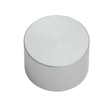 Intensions Modern eindknop roede cap 20 mm RVS 2 stuks