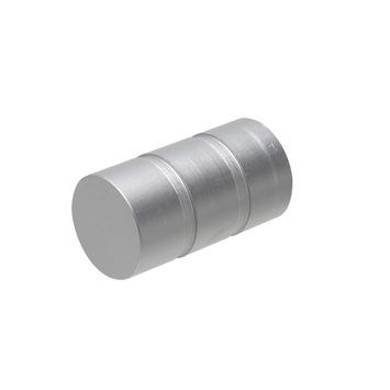 Intensions eindknop roede cap 20 mm aluminium 2 stuks
