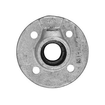 Steigerbuis voetplaat ijzer Ø 27 mm