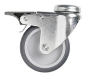 Zwenkwiel ijzer 75 mm voor buis Ø 27 mm