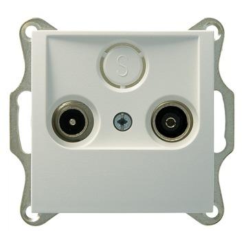 Berker B1-B.3-B.7 Stopcontact Coax Wit
