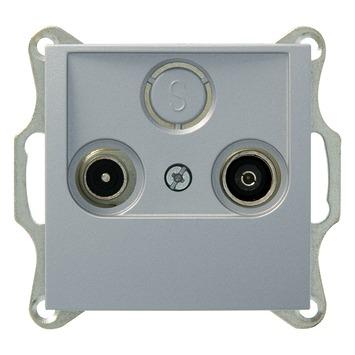 Berker B1-B.3-B.7 Stopcontact Coax Aluminium