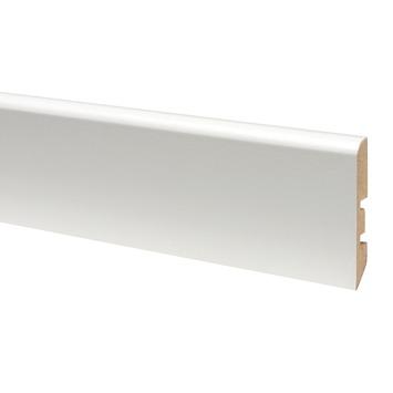 CanDo muurplint MDF wit 10x58 mm 260 cm