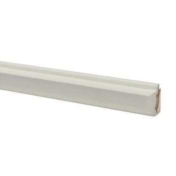CanDo vensterbanklijst MDF rond wit gegrond 26x28mm 406 cm