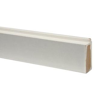 CanDo vensterbanklijst MDF recht wit gegrond 50x28mm 406 cm