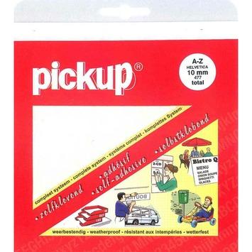 Pickup plakletters A-Z Helvetia wit 40 mm