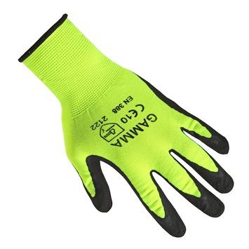 GAMMA werkhandschoen antislip latex geel XL