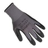 GAMMA werkhandschoen antislip latex grijs L