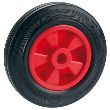 Vaak GAMMA | Wiel zwart/rood 200 mm 180 kg kopen? | wielen-rollen UQ57